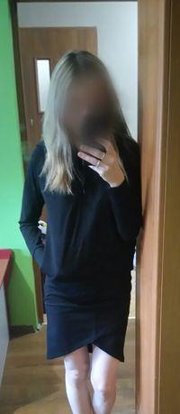 Komplet, bluza + spódniczka, czarne, rozm S, Nowe Sosnowiec - image 7