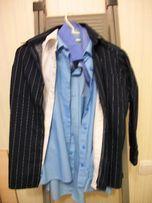 Рубашка на 8-10 лет (140 см) стильная черная REBEL, 100% коттон