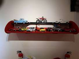 25 Lego sets with manuals, box of cars, metal spoiler shelve, robot
