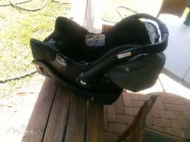 Joie infant car seat with safety car seat carrier