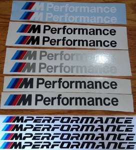 M Performance decals stickers graphics