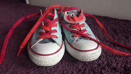 Converse trampki błękitno różowe 32 19,5 cm
