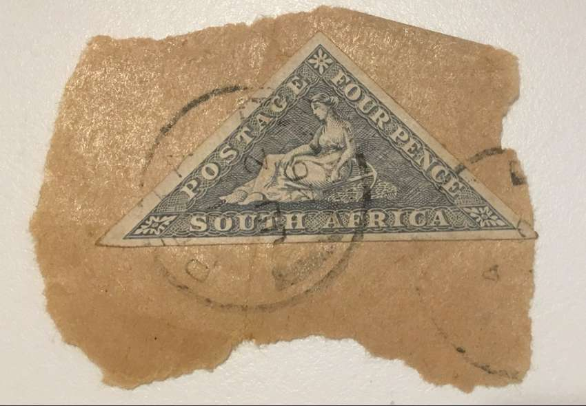 4 pence South African stamp 0