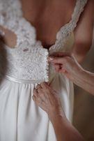 Prosta suknia ślubna w stylu greckim XS/S