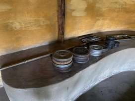 Weights and gym boxing equipment