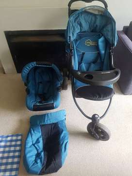 Jogger pram/ travel system with stage 0 car seat, My modern Baby