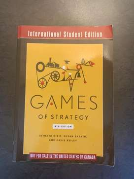 Games of Strategy Textbook