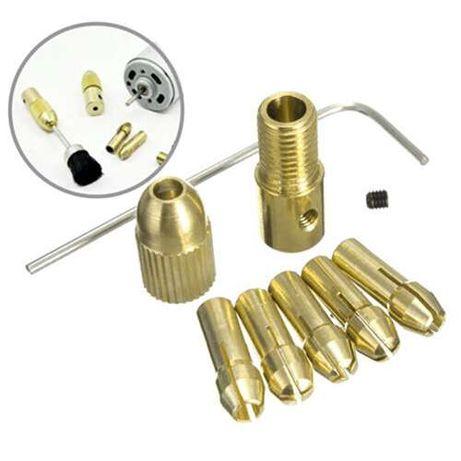 Цанговый патрон + 5 цанг 0,5-3мм цанга электро дрель мини Черкассы - изображение 2
