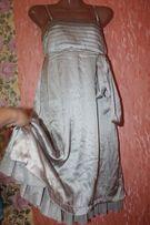 легкое платье серебро ретро стиляги на подкладке 38-46р