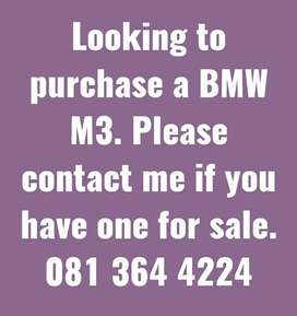 Wanted! BMW M3