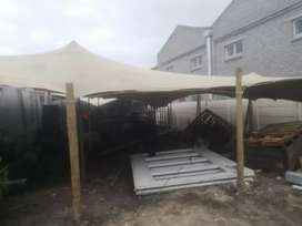 Stretch tents for permanent structures and hiring, carports shades