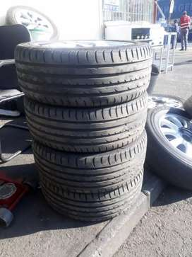 A set of four tyres