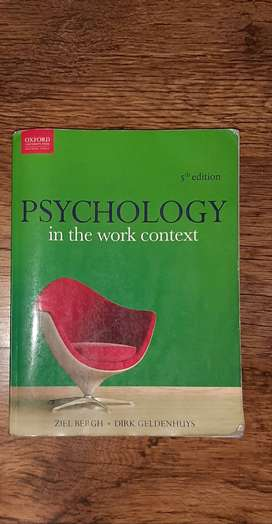 5th edition Psychology in the Work Context and Operations Management