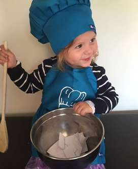 kids chef aprons and hats