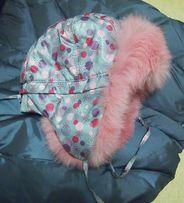 шапка для девочки с мехом Фиона 52 р.
