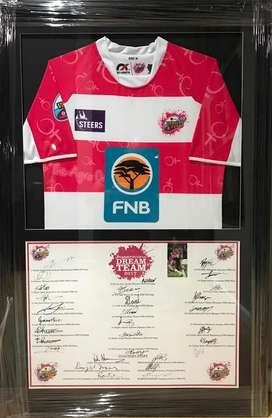 Rugby Jersey Varsity Cup Dream Team Signed and Framed
