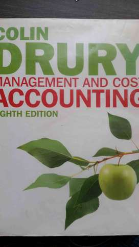 Management and cost accounting - Colin Dury (8th ed) w student manual