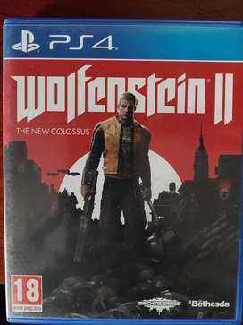 PS4 WOLFENSTEIN 2 THE NEW COLOSSUS game