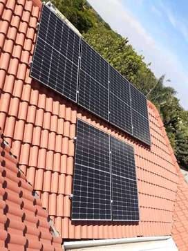 Solar panels, batteries and inverters