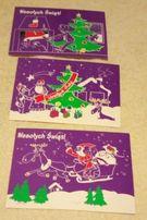 Boże Narodzenie- pocztówki- 3 wzory