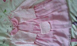Нарядное платье для девочки с накидкой практически новое