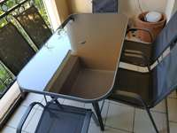 Image of 6 chairs and table for patio