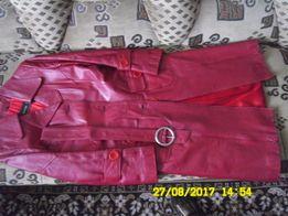 СРОЧНО очень красивое женское кожаное пальто