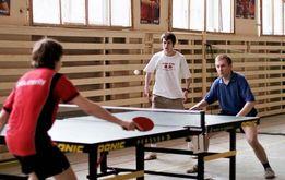 Обучаю игре в настольный теннис