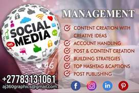 Let us Manage, Grow & Optimize your Social Media Presence.