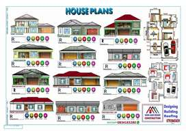 House plan design and building
