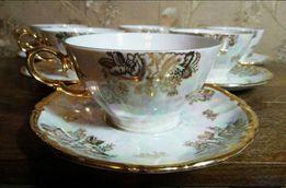 Немецкий фарфор старинный фарфоровый сервиз чайные кофейные пары