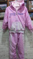 Тёплый спортивный костюм на весну на 5 лет, куртка ветровка