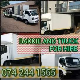 I have a bigger  truck and smaller  truck for hire