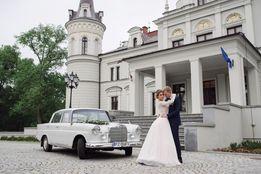Do ślubu klasyczna limuzyna Mercedes Skrzydlak zabytkowy samochód