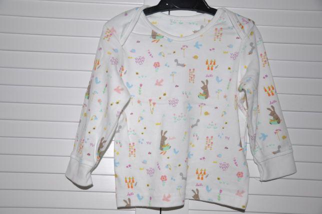 MOTHERCARE Dziewczęca piżamka w zwierzątka leśne 9-12 miesięcy 74-80cm Wilga - image 2