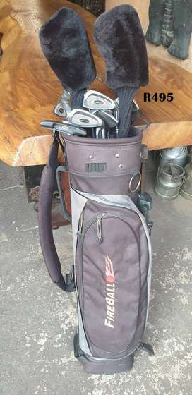 Fireball Golfbag with Clubs
