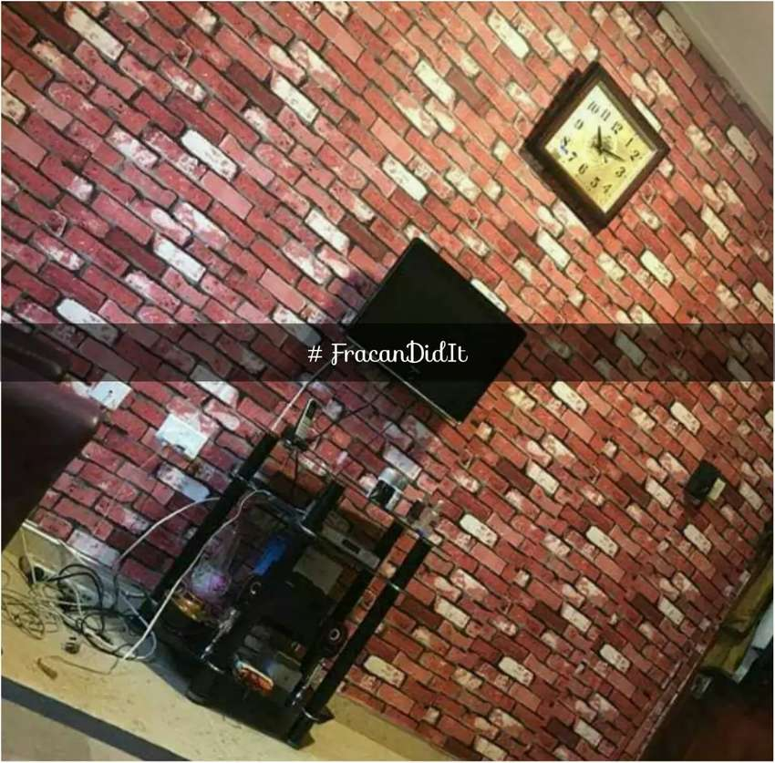 3D brick wallpaper now available in Abuja 0