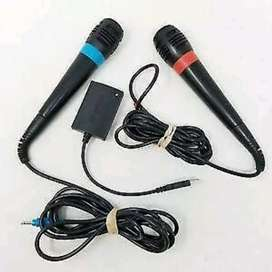 Sony PS2 SingStar Mics and Adapter for sale