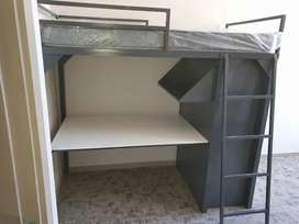 New study bed with desk and a cupboard