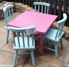 Kiddies Wooden Table and 4-Chairs