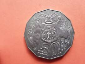 Australia 1974 50 pence coin in great condition
