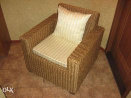 Новое, плетеное кресло из манильского каната.