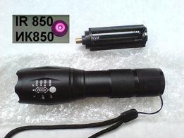 ИК фонарь IR LED 850нм nm, 3W - линза с изменяемым фокусом.