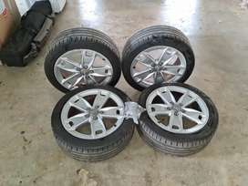 OEM Audi mags with tires
