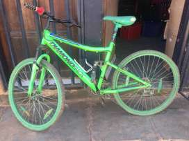 A bicycle that is still in very good condition.