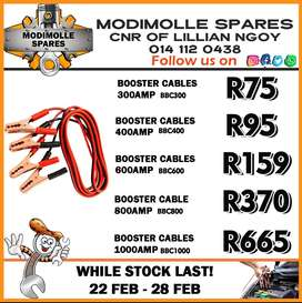 Booster Cables available at Modimolle Spares!