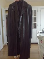 Płaszcz czarny 100% skóra