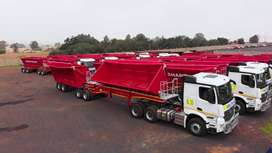 34  TON SIDE TIPPER TRUCKS AND PLANT FOR HIRE  IN SOUTH AFRICA
