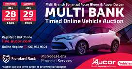 Aucor Bloem & Durban Multi Bank Timed Online vehicle auction
