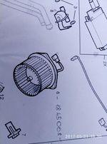 Мотор вентилятора печки (кат.Номер1845008) Opel Astra G, Zafira A